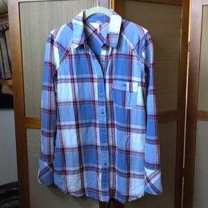 FREE PEOPLE BUTTON DOWN SHIRT TOP SIZE XS